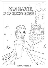 Verjaardag Kleurplaat Frozen Archidev Kleurplaat Verjaardag Elsa