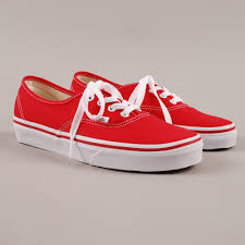 vans red and white. vans authentic - red (image 1) and white n