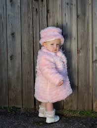 fur coat hat and set in baby pink