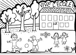 Coloriage Ecole Les Beaux Dessins De Imprimer Et Colorier Dessin De Ecole Maternelle Imprimer Coloriage De