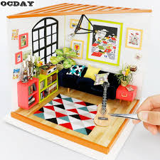 inexpensive dollhouse furniture. Furniture Kit Kitchen Model Educational Toy Woodcraft Gifts For Kids Toys Dolls House Book Dollhouse Accessories Discount From Hanlley, $52.52| Dhgate. Inexpensive D