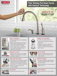 Touch Technology Kitchen Faucet Delta Pilar Single Handle Pull Down Sprayer Kitchen Faucet With