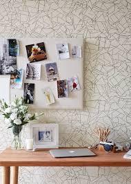 contemporary home office design. Contemporary Home Office With Interior Wallpaper. Design