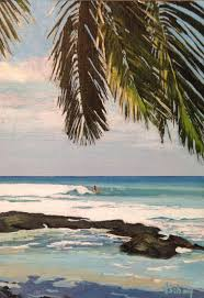 surfing tropical hawaii island by stacyvosbergfineart on 95 00