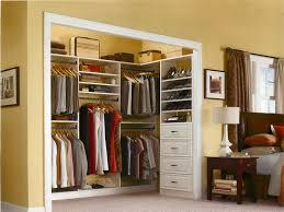 small closet organization yellow