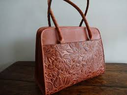 patricia nash lg paris spring fl tooling dusty rose italian leather tote