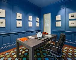 contemporary blue home office idea blue office walls