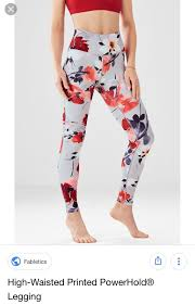 Fabletics Size Chart Fabletics High Waist Leggings In Floral Pattern Size Tag