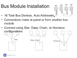 concord 4 security system advanced training ppt 11 bus module installation 16 total bus devices auto addressing connections made at panel or from another bus module connect using star daisy chain