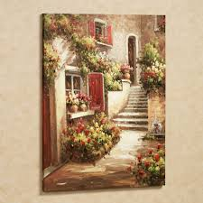 >tuscan flowers canvas wall art tuscan flowers canvas art touch to zoom