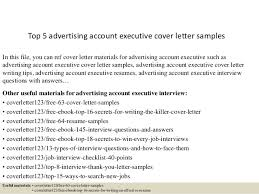 Sample Advertising Account Executive Cover Letter Top 5 Advertising Account Executive Cover Letter Samples