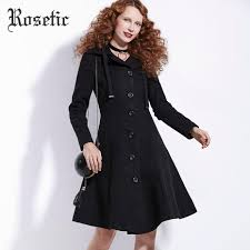 2018 whole rosetic gothic asymmetric coat black trench retro slim women autumn fashion overcoat outerwear on preppy vintage goth coats from avive