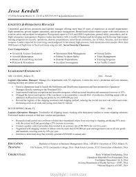 Logistics Manager Resume Examples Resume Template