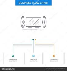 Console Device Game Gaming Psp Business Flow Chart Design