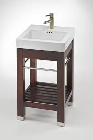 bathroom vanity with white ceramic sink loading zoom