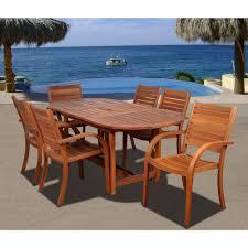Arizona oval 7 piece eucalyptus patio dining set