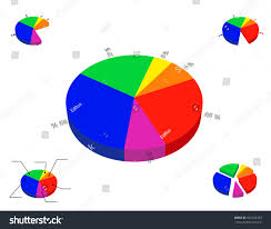 3d Pie Chart Template 3 D Pie Chart Template Isolated On Stock Vector Royalty
