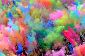 colored powder throw partite in a color run