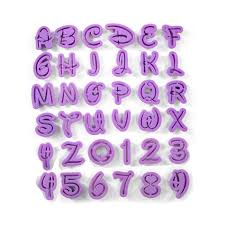 Letters By Number Disney Letters And Number Cutters Lavenders Bake Shop