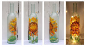 Decorative Wine Bottles With Lights Front Porch Studio Hand Painted Wine Bottle Lights 15