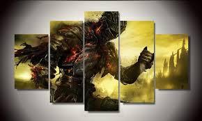 5 piece canvas prints. Plain Prints Canvas  Limited Edition Dark Souls 5 Piece To Prints A