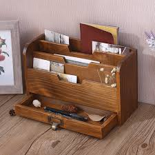 home office storage boxes. Creative Old Wooden Desk Home Office Storage Box Desktop Filing Document Sundries Boxes W