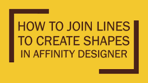 Click your mouse anywhere, hold shift and click again. How To Join Lines To Create Shapes In Affinity Designer Youtube
