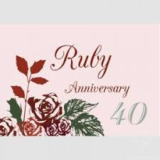 ruby 40th anniversary greetings card