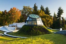 canada s gorgeous green roofed vandusen botanical garden visitor centre now open to the public