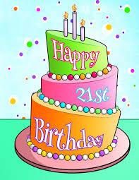 Happy 21st Birthday Birthday Cake Themed Notebook Journal Diary