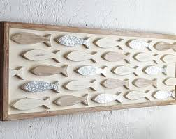 wall art wooden fish