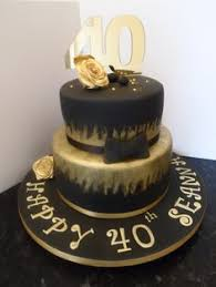 black and gold themed cake perfect for other birthday celebrations eg 18th 21st