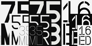 Number Stencil Font Nbl Nb Grotesk Pro Mono Edition