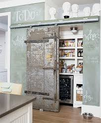 View in gallery Sliding Pantry Door and Chalkboard Wall