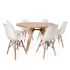 round table chairs on innovative circular tables and cream