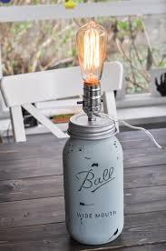 diy mason jar lighting shabby chic mason jar lamp diy