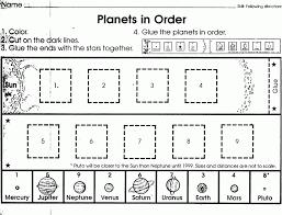 Solar System Worksheets Forindergarten Activities Pre For ...