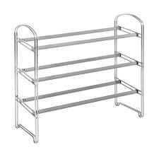 21 pair expandable 3 tier shoe rack