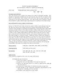 Occupational Therapy Resume Example Examples Of Resumes