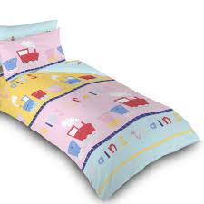 trains childrens bedding kids toddler cot cotbed duvet