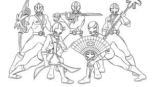 Power Rangers Coloring Pages Printable Samurai Colouring Sheets Dino