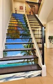 3D COCONUT TREE KEP563 Stair Risers Decoration Mural Vinyl Wallpaper Kay -  £55.20 | PicClick UK