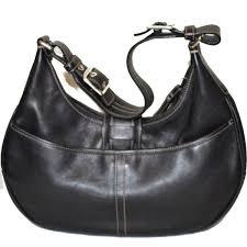 coach leather handbag hobo 7548