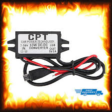 dc 7v to 50v car converter step down 2a micro usb panel mount charge cpt socket car styling