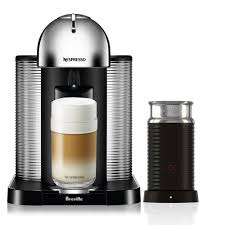 Nespresso Frother Nespresso Vertuoline Espresso Maker With Milk Frother Chrome