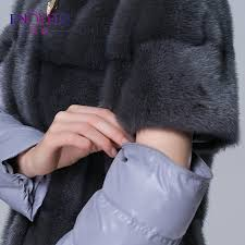 women s winter fur coats genuine mink fur down coat 38 48 plus size thick warm mink