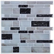 Brick Backsplash Tile peel n stick kitchen backsplash tiles stone brick pattern wall 5338 by guidejewelry.us