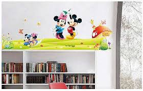 large mickey mouse love minnie wall