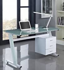 work table office. Computer Desk PC Table Office Furniture Work Station Glass Top And Sides Drawers