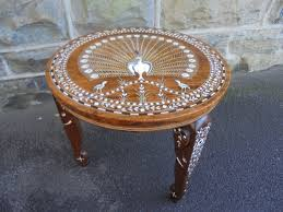 antique anglo indian inlaid coffee table c 1920 1 of 8